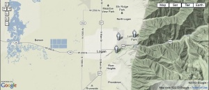 A map of gay Mormons living in Logan, Utah.